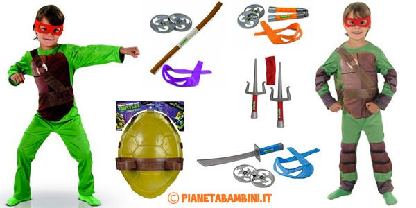 Costumi ed armi delle Tartarughe Ninja