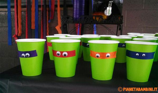 Come creare dei bicchieri delle Tartarughe Ninja