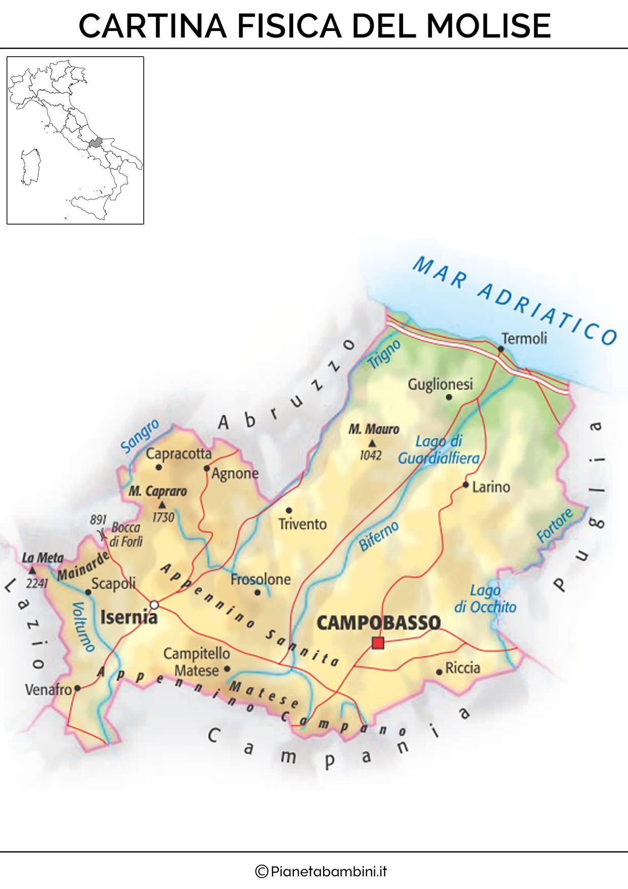 Molise Cartina Italia.Molise Lessons Tes Teach