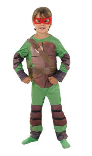 Costume delle Tartarughe Ninja con protezioni e guscio