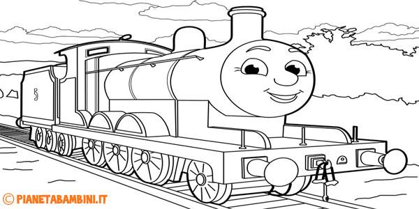 Disegni di Trenino Thomas da stampare gratis e colorare