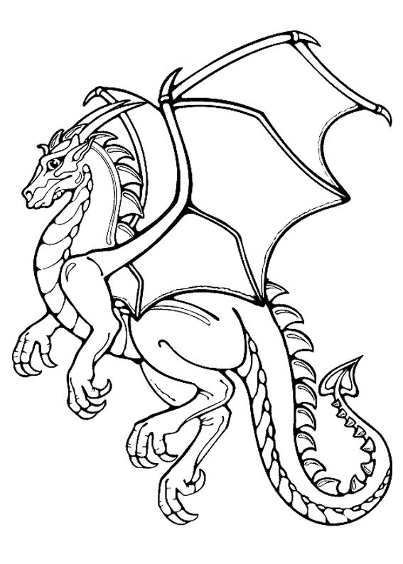 30 disegni di draghi da colorare for Beowulf coloring pages