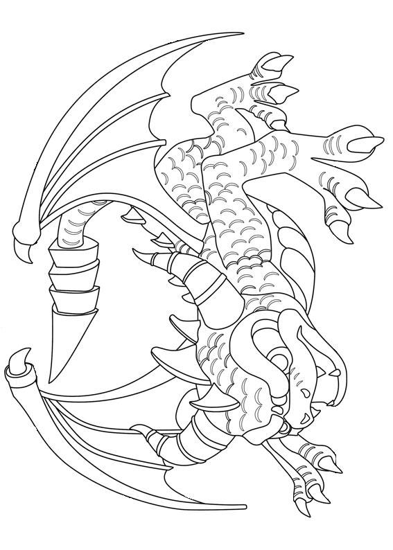 30 disegni di draghi da colorare for Sito per disegnare