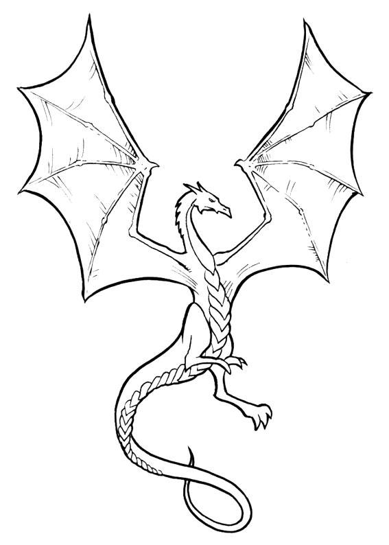 30 disegni di draghi da colorare - Carino facile colorare le pagine ...