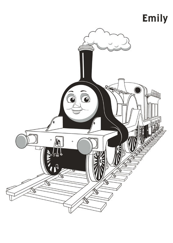 Disegni di trenino thomas da colorare for Emily the tank engine coloring pages