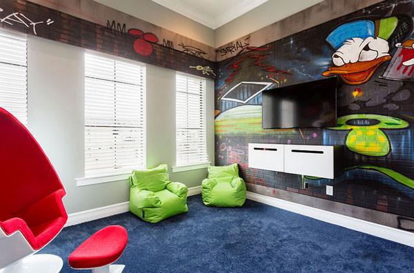 Cameretta Disney in stile murales