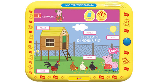 Tablet per bambini Carotina Mio Tab Toccaimpara di Lisciani