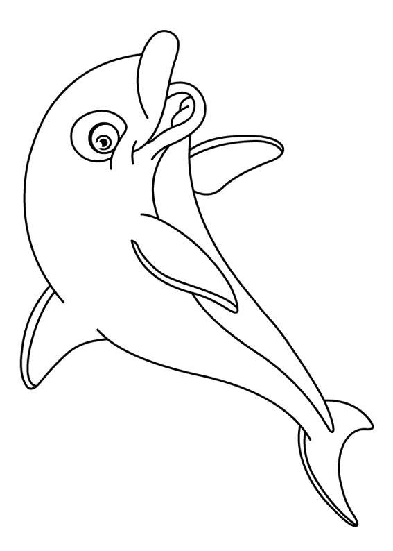 30 disegni di delfini da colorare for Immagini di mare da colorare
