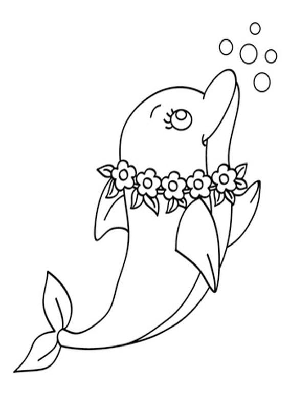 30 disegni di delfini da colorare for Delfino disegno da colorare