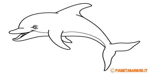 Disegni di delfini da stampare gratis e colorare