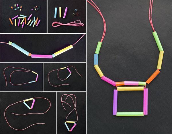 Come creare collane utilizzando le cannucce
