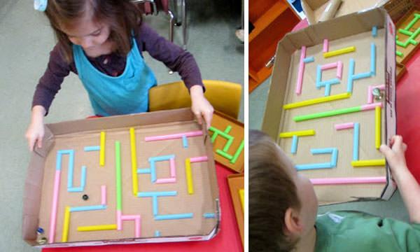 Come realizzare un labirinto con le cannucce