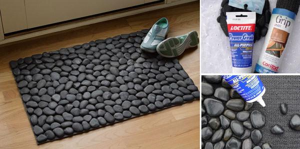 Come creare un tappeto con i sassi