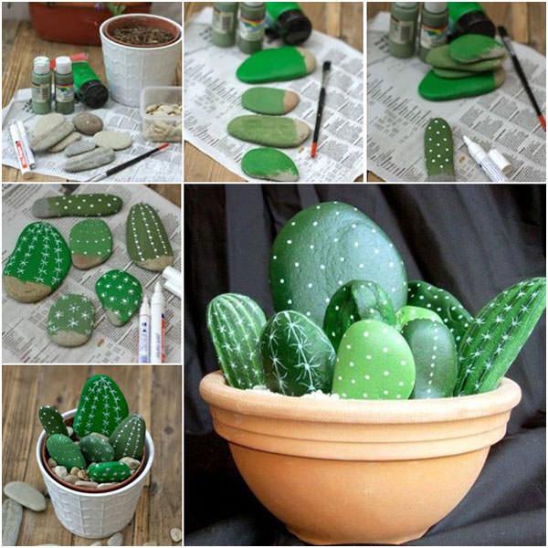 Come creare delle piante grasse con i sassi