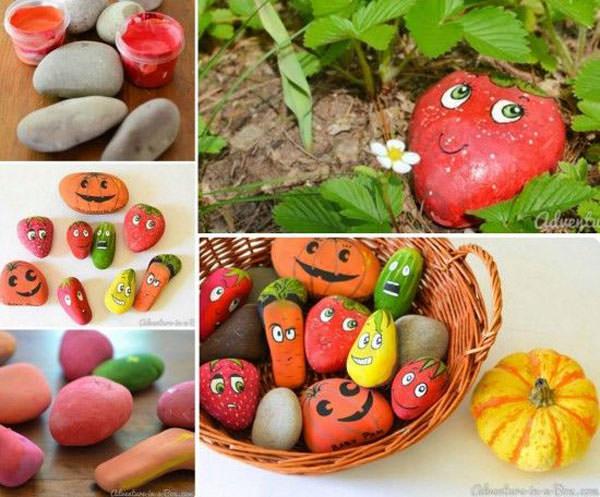 Come creare frutti e ortaggi con i sassi