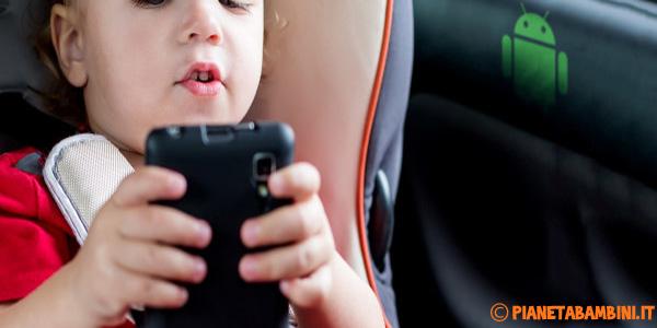App Android per bambini per distrarli in auto