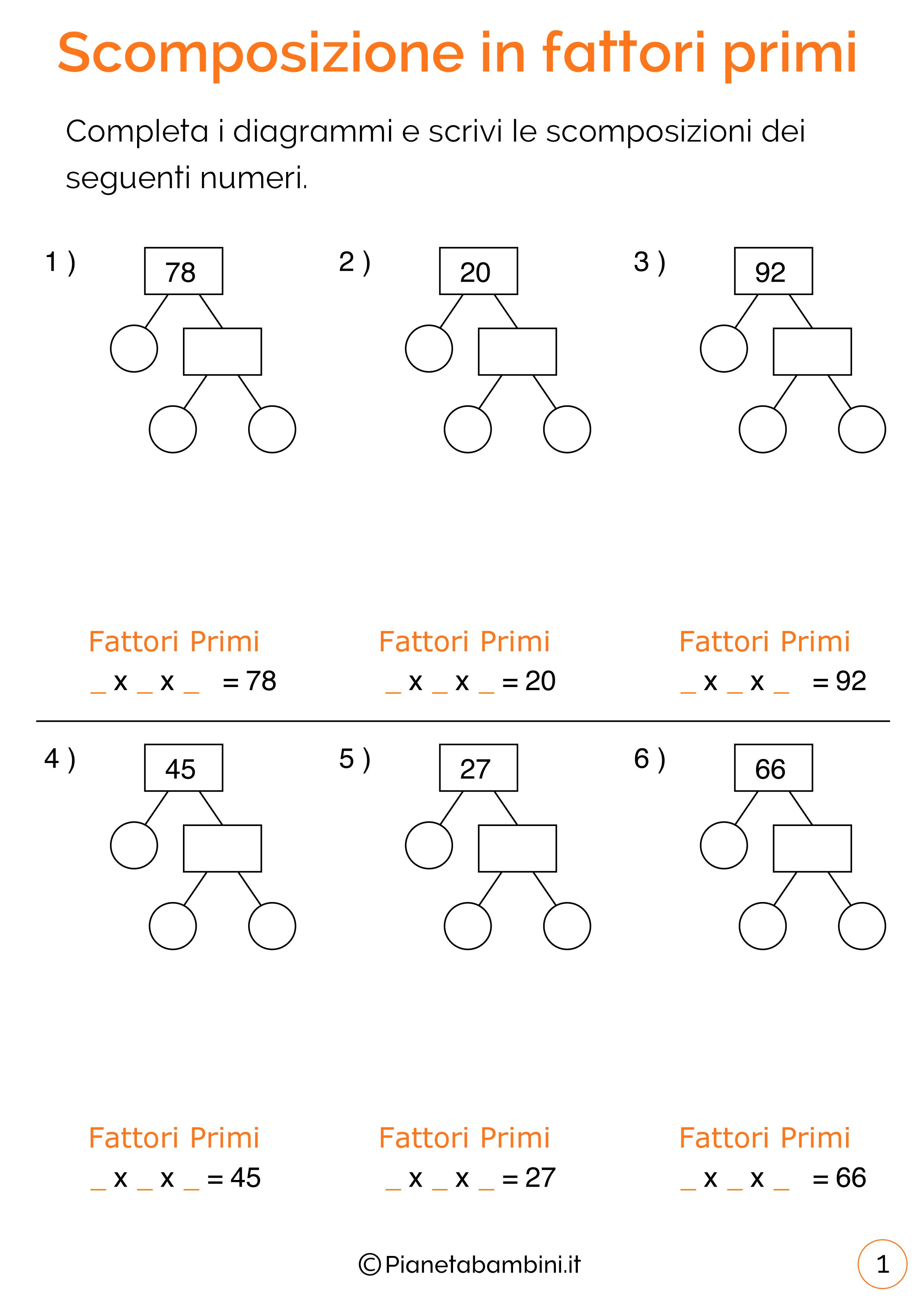 Esercizi-Scomposizione-Fattori-Primi-1