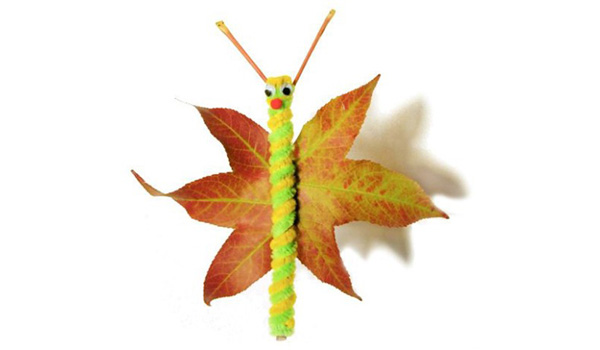 Come creare farfalle con foglie autunnali