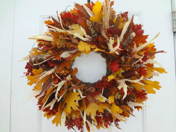 Come creare una ghirlanda con foglie autunnali