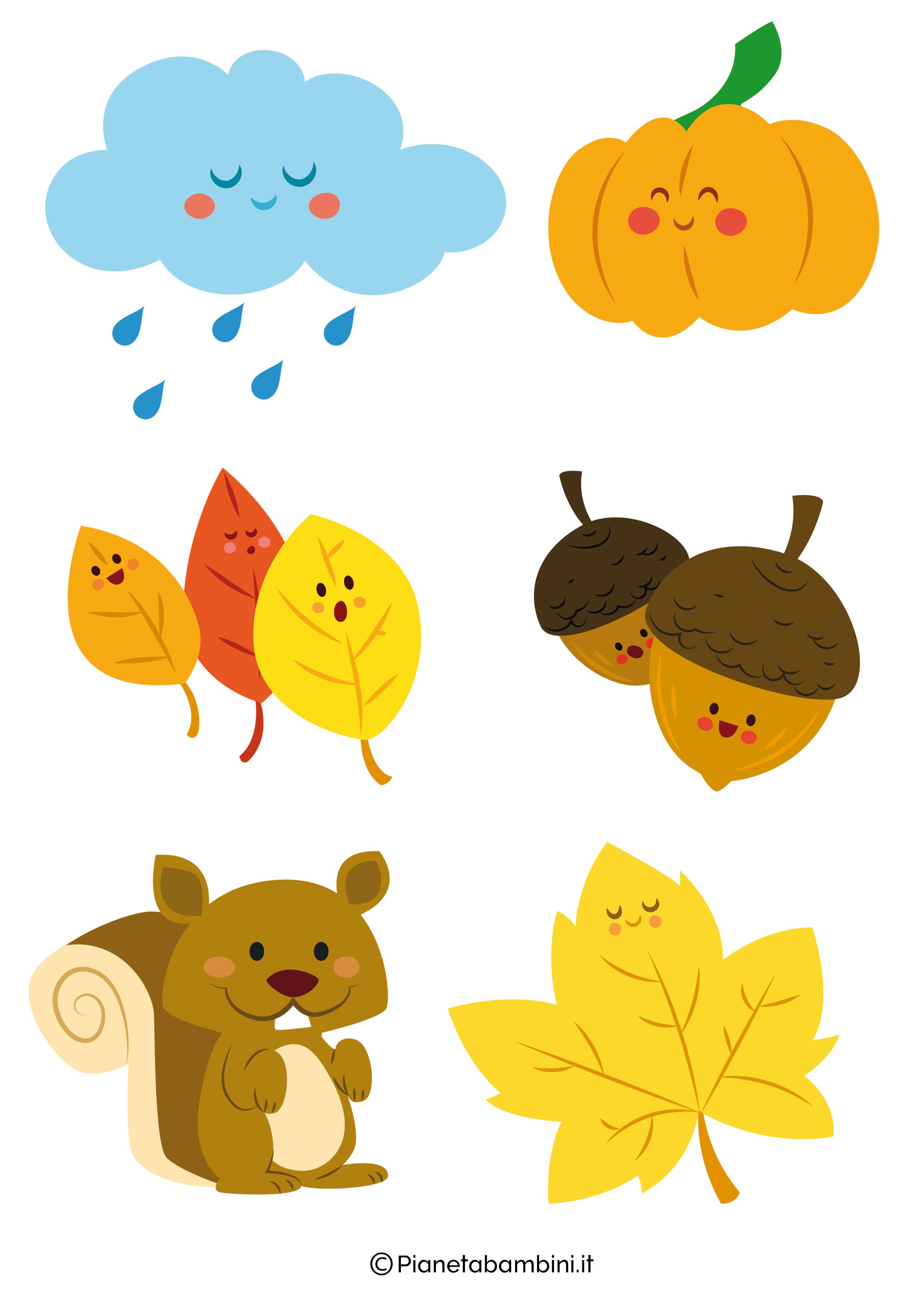 Immagini d 39 autunno da ritagliare per decorazioni e for Immagini di polipi da colorare