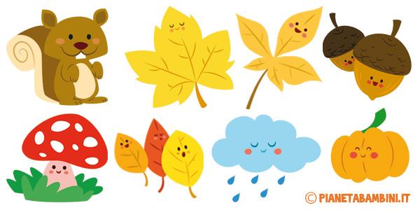 Immagini sull'autunno per bambini da ritagliare