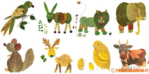 Idee per lavoretti con foglie d autunno bambini