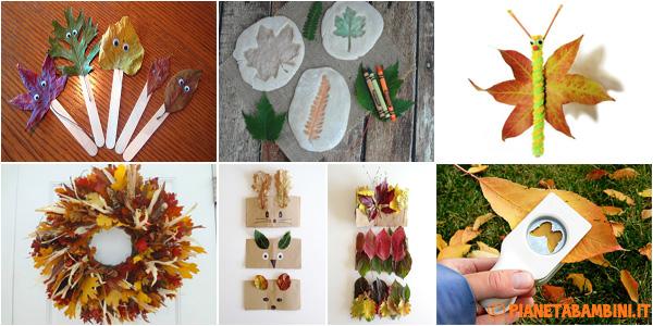 Idee per la creazione di lavoretti con vere foglie d'autunno