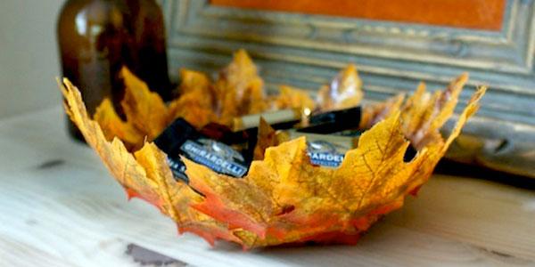 Come creare una ciotola con foglie autunnali
