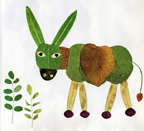 Come creare un asino con le foglie autunnali