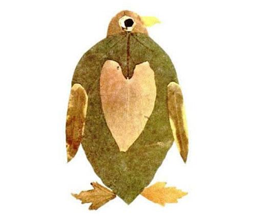 Come creare un pinguino con le foglie autunnali
