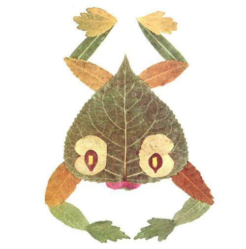 Come creare una rana con le foglie autunnali