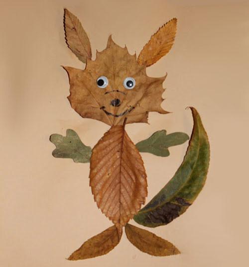 Come creare una volpe con le foglie autunnali