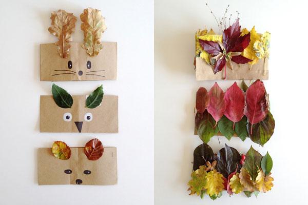 Come creare maschere e corone con le foglie autunnali