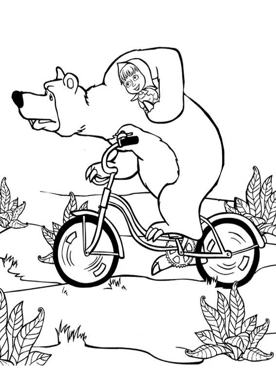 99 disegni di masha e orso da colorare