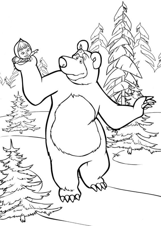 99 disegni di masha e orso da colorare - Immagini di orsi da colorare in ...