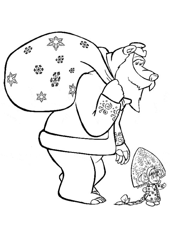 Disegni di masha e orso da colorare pianetabambini