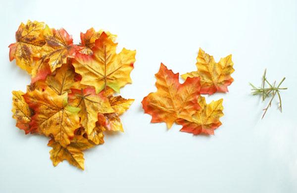 Occorrente per la creazione della ciotola con foglie autunnali