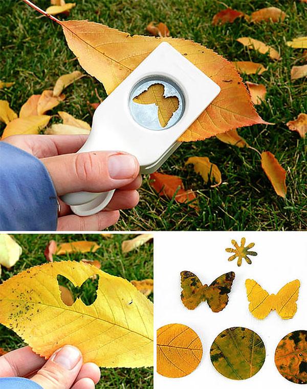 Come creare delle sagome utilizzando le foglie