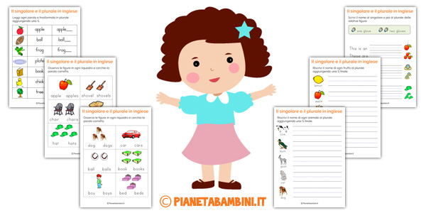 Esercizi sul singolare e plurale in inglese per bambini da - Immagini in francese per bambini ...