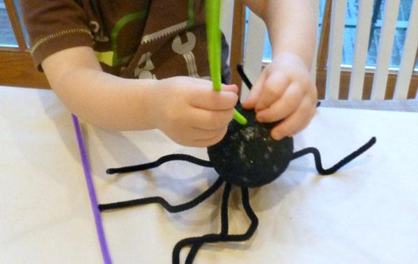 Inserimento dei capelli del ragno