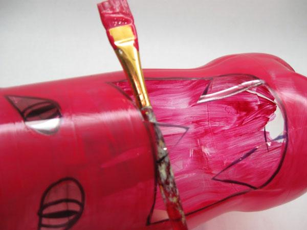 Come colorare la bottiglia porta caramelle di Halloween