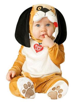 Costume di Halloween da cane per neonati