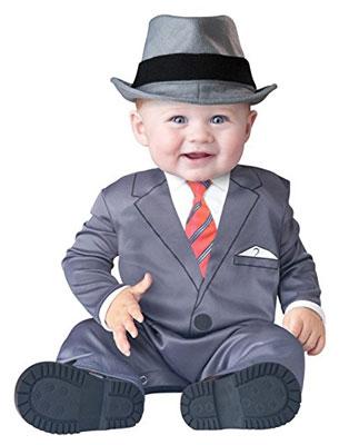 Costume di Halloween da gangster per neonati