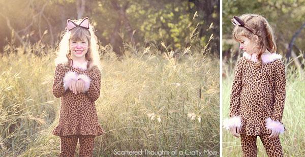Come creare un costume da leopardo fai da te per bambine