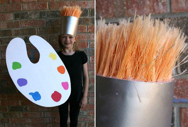Come creare un costume da pennello fai da te per bambini