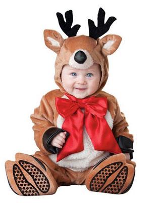 Costume di Halloween da renna per neonati