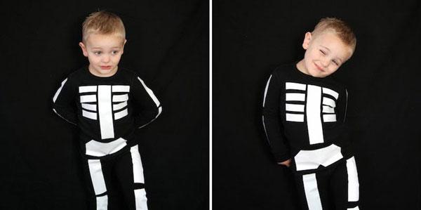 Come creare un costume da scheletro fai da te per bambini