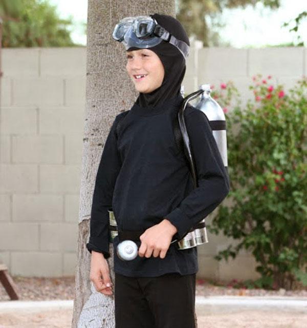 Come creare un costume da sub fai da te per bambini