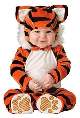 Costume di Halloween da tigre per neonati