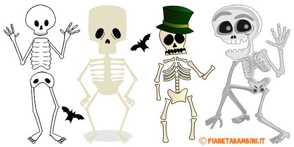 Scheletri da stampare gratis per addobbi di halloween